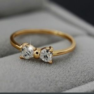 💍Crystal Gold Bow Ring💍